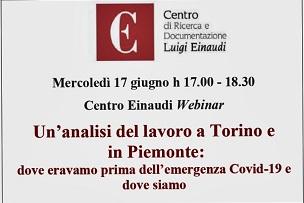 Un'analisi del lavoro a Torino e in Piemonte: dove eravamo prima dell'emergenza Covid-19 e dove siamo