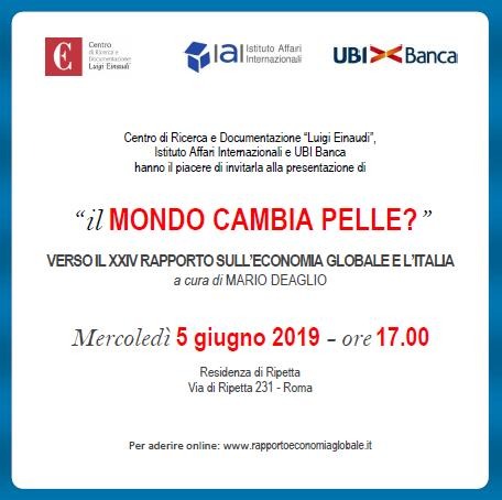 Verso il XXIV Rapporto sull'economia globale e l'Italia