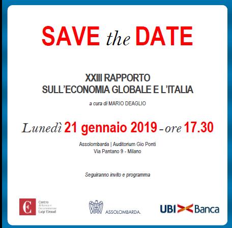 XXIII Rapporto sull'economia globale e l'Italia