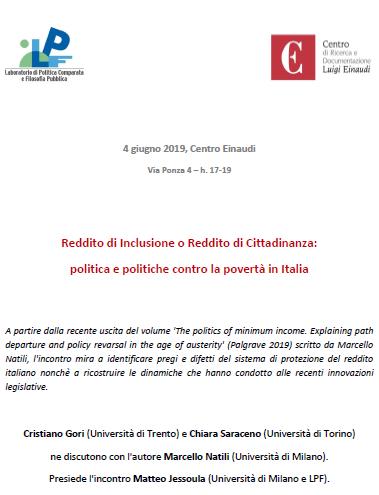 Reddito di Inclusione o Reddito di Cittadinanza: politica e politiche contro la povertà in Italia