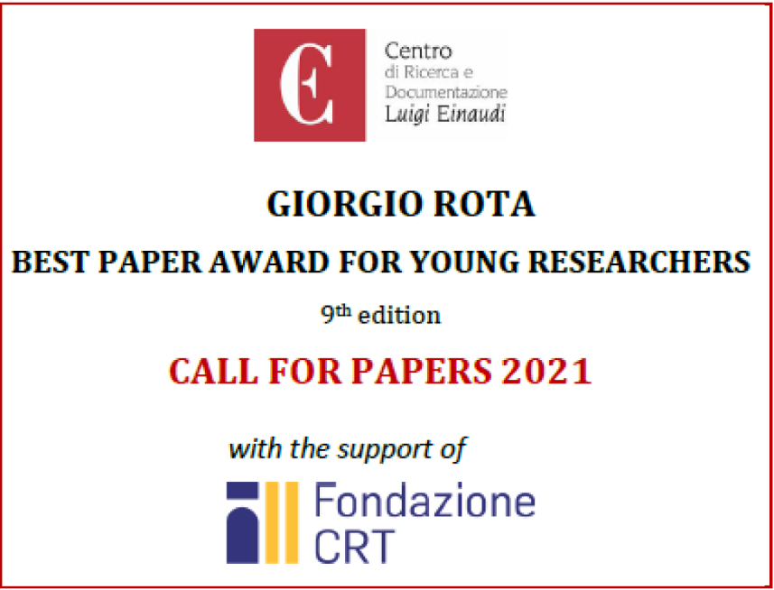 9th Giorgio Rota Best Paper Award